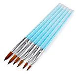 Недорогие -6pcs / set голубой горный хрусталь для ногтей искусство кисти uv гель для ногтей покраска рисунок маникюр инструменты