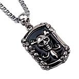 Муж. Ожерелья с подвесками Ожерелья-цепочки , Череп Сплав На каждый день Хип-хоп Бижутерия Назначение Праздники Бар