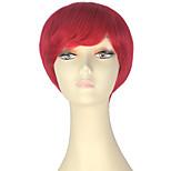 Недорогие -miss u hair жен. Парики из искусственных волос Короткий Прямой силуэт Красный Парики для косплей Парик из натуральных волос Парик Лолита
