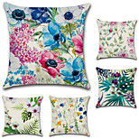 cheap -Set Of 5 Tropical Plant Flowers Pillow Cover Creative Bohemian Floral Pillow Case 45*45Cm Cushion Cover