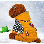 Собака Комбинезоны Одежда для собак На каждый день Буквы и цифры Черный Желтый Красный Костюм Для домашних животных