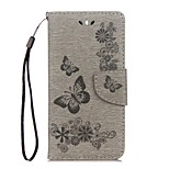 cheap -Case For Huawei Y5 III(Y5 2017) Y5 II / Honor 5 Card Holder Wallet with Stand Flip Embossed Full Body Butterfly Hard PU Leather for