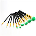 10 pcs Makeup Brush Set Blush Brush Eyeshadow Brush Lip Brush Eyeliner Brush Powder Brush Foundation Brush Nylon Synthetic Hair Full