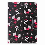 cheap -Case For Apple iPad Air 2 iPad mini 4 Card Holder Wallet with Stand Full Body Skull Hard PU Leather for iPad 9.7 (2017) iPad Air 2 iPad