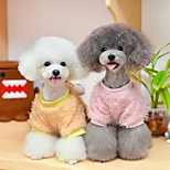 Dog Sweatshirt Dog Clothes Casual/Daily Cartoon Pink Yellow Costume For Pets