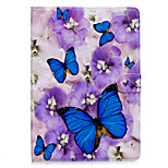 cheap -Case For Apple iPad 10.5 iPad mini 4 Card Holder Wallet with Stand Full Body Butterfly Hard PU Leather for iPad Pro 10.5 (2017) iPad 9.7