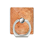 cheap -Wood Grain Pattern Cell Phone Ring Stand Holder for Phone