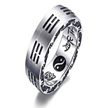 cheap -Men's Ring Settings , Vintage Titanium Circle Jewelry Gift Daily