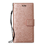 cheap -Case For Sony Xperia XA1 Xperia L1 Card Holder Wallet with Stand Embossed Full Body Solid Color Unicorn Hard PU Leather for Sony Xperia