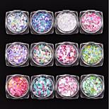Недорогие -12 ед. В форме сердца Пайетки Разноцветный Дизайн ногтей