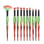 cheap -10 pcs Makeup Brush Set Blush Brush Eyeshadow Brush Lip Brush Powder Brush Foundation Brush Pony Synthetic Hair Eco-friendly Professional