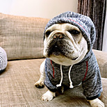 Dog Hoodie Dog Clothes Casual/Daily British Blue Coffee Costume For Pets