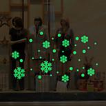 Недорогие -Геометрия Рождество Наклейки Простые наклейки Декоративные наклейки на стены, Винил Украшение дома Наклейка на стену Стена Окно