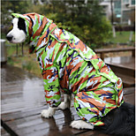 cheap -Dog Rain Coat Dog Clothes Waterproof Reactive Print Camouflage Color Costume For Pets