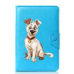 abordables -caja universal de la cubierta del soporte del cuero de la PU del perro para 7 pulgadas 8 pulgadas 9 pulgadas 10 pulgadas tablet pc