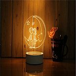 1 Set Of 3D Mood Night Light Hand Feeling Dimmable USB Powered Gift Lamp Under The Moonlight