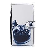 Недорогие -Кейс для Назначение Huawei P8 Lite (2017) P10 Lite Кошелек Бумажник для карт со стендом Флип С узором Чехол С собакой Твердый