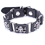cheap -Men's Bracelet , Metallic Casual Gothic Leather Alloy Circle Skull Jewelry Halloween