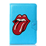 Universal Lip Print PU Leather Stand Cover Case For 7 Inch 8 Inch 9 Inch 10 Inch Tablet PC