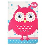 cheap -Case For Apple iPad 10.5 iPad (2017) with Stand Flip Pattern Auto Sleep/Wake Up Full Body Cartoon Animal Owl Hard Textile for iPad pro