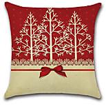 preiswerte -1 stücke weihnachten bowknot weihnachtsbäume kissenbezug 45 * 45 cm sofakissenbezug baumwolle / leinen kissenbezug