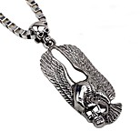 cheap -Men's Skull Gothic Cool Pendant Necklace Chain Necklace , Alloy Pendant Necklace Chain Necklace , Party Bar