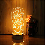 cheap -1 Set Of 3D Mood Night Light Hand Feeling Dimmable USB Powered Gift Lamp Sweet Pair