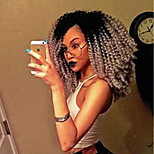 Недорогие -жен. Парики из искусственных волос Средний Кудрявый вьющиеся Серый Волосы с окрашиванием омбре Парик из натуральных волос Знаменитый парик