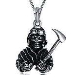 cheap -Men's Skull Tiger European Rock Statement Jewelry Pendant Necklace , Stainless Steel Pendant Necklace , Masquerade Club