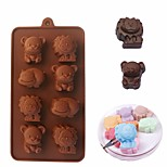 cheap -Cookie Cutters For Candy Cookie Cake Chocolate For Cookie Silica Gel DIY Valentine's Day Birthday 3D Baking Tool