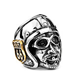 cheap -Men's Statement Rings , Fashion Oversized Cool Titanium Steel Irregular Jewelry Daily Street
