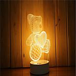 cheap -1 Set Of 3D Mood Night Light Hand Feeling Dimmable USB Powered Gift Lamp Bear