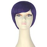 Недорогие -miss u hair жен. Парики из искусственных волос Короткий Прямой силуэт Фиолетовый Парики для косплей Парик из натуральных волос Парик