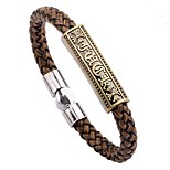 Men's Bracelet , Bohemian Hiphop Leather Alloy Circle Jewelry For Gift Going out