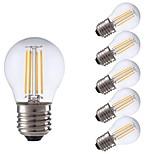 abordables -6pcs 3W 300lm E27 Bombillas de Filamento LED P45 4 LED COB Luces LED Blanco Cálido 2700K AC 100-240V