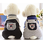 Dog Jumpsuit Dog Clothes Casual/Daily Stripe Gray Black Costume For Pets