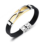 cheap -Men's Bracelet ID Bracelets , Fashion Rock Silica Gel Titanium Steel Geometric , Jewelry Daily Street