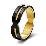Men's Band Rings Simple Casual Stainless Steel Jewelry For Bar Holiday