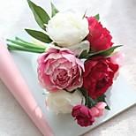 Недорогие -1 Филиал Полиэстер Пионы Букеты на стол Искусственные Цветы