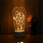 cheap -1 Set Of 3D Mood Night Light Hand Feeling Dimmable USB Powered Gift Lamp Love Each Other