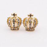 Недорогие -В форме короны Серебряный Синий Золотой Запонки Искусственный бриллиант Сплав Классика Мода Повседневные Муж. Бижутерия