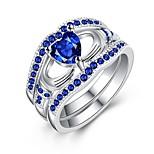 Недорогие -Жен. Классические кольца Цирконий Синтетический сапфир Мода Позолота Геометрической формы Бижутерия Повседневные