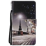cheap -Case For Huawei Mate 9 Mate 10 Card Holder Wallet with Stand Flip Magnetic Pattern Full Body City View Hard PU Leather for Huawei Mate 10