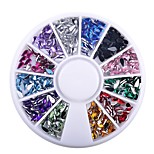 cheap -1 Box Colorful Waterdrops 3D Nail Rhinestone Decoration Wheel DIY Nail Tips Manicure Tools