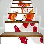 Недорогие -Рождество люди Наклейки Корпус Простые наклейки 3D наклейки Декоративные наклейки на стены Свадебные наклейки,Бумага Винил Украшение дома
