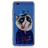 cheap -Case For Huawei P8 Lite (2017) P10 Lite Pattern Back Cover Cat Soft TPU for P10 Lite P10 P8 Lite (2017)