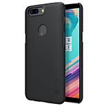Недорогие -Кейс для Назначение OnePlus 5 OnePlus 5T Матовое Задняя крышка Сплошной цвет Твердый PC для One Plus 5 OnePlus 5T