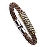 Men's Bracelet , Vintage Fashion Leather Alloy Circle Jewelry For Going out Street