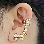 cheap -Men's Women's Stud Earrings Ear Cuffs Rhinestone Fashion European Ethnic Alloy Skull Jewelry For Evening Party Carnival