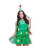 Недорогие -Новогоднее платье Рождественская шляпа Женский Рождество Фестиваль / праздник Костюмы на Хэллоуин Зеленый Рождество